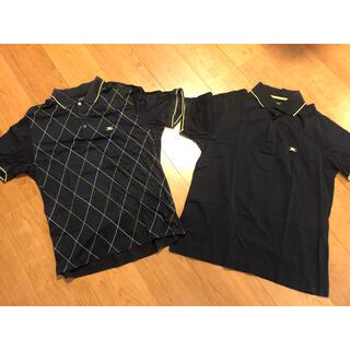 バーバリー(BURBERRY)の二点セットBURBERRY GOLFバーバリーメンズ 半袖 ポロシャツ LL 黒(ウエア)