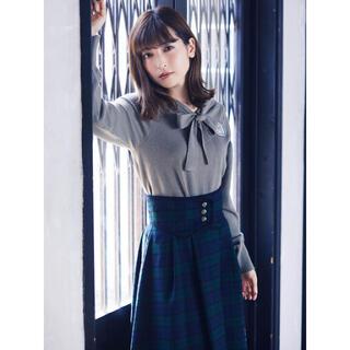 メゾンドフルール(Maison de FLEUR)の【canone】コルセットベルトチェックスカート(ひざ丈スカート)