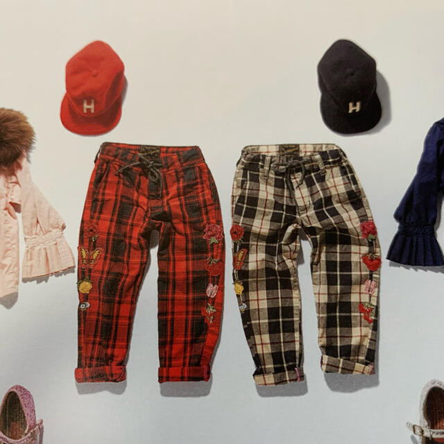 GO TO HOLLYWOOD(ゴートゥーハリウッド)のgotohollywood チェックパンツ 110 キッズ/ベビー/マタニティのキッズ服女の子用(90cm~)(パンツ/スパッツ)の商品写真
