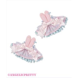 アンジェリックプリティー(Angelic Pretty)のMoco moco Bunnys お袖とめ サックス(ひざ丈ワンピース)