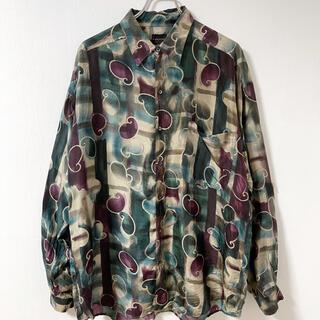 Yohji Yamamoto - 希少 古着 Vintage 90s シルク100% アート柄シャツ ビックサイズ
