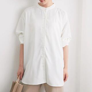 ヴィス(ViS)のビスVIS  チュニック丈バンドカラーシャツ(シャツ/ブラウス(長袖/七分))