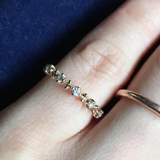 ポンテヴェキオ(PonteVecchio)のk18 ダイヤモンド ピンキーリング(リング(指輪))