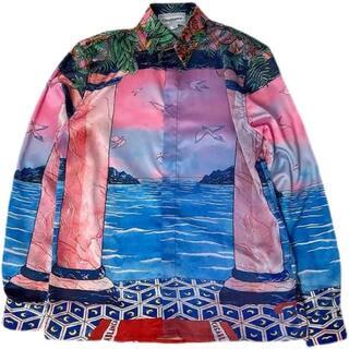 VISVIM - CASABLANCA Moca Sunset Silk Shirt 残り僅か