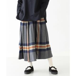 BEAMS BOY - 2020秋冬 グレー BEAMS BOY / ビッグ タータン スカート