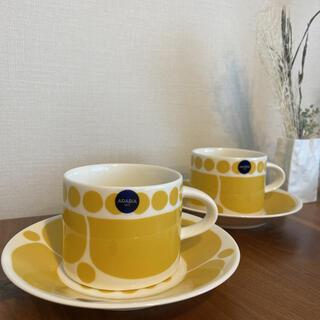 アラビア(ARABIA)の新品2客スンヌンタイ コーヒーカップ ソーサー(グラス/カップ)