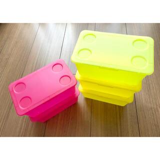 IKEA - IKEA GLIS ふた付きボックス 5個 おもちゃ収納