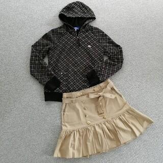 バーバリーブルーレーベル(BURBERRY BLUE LABEL)のバーバリーブルーレーベル パーカーとスカートのセット(セット/コーデ)