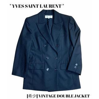 サンローラン(Saint Laurent)のYVES SAINT LAURENT サンローラン ヴィンテージダブルジャケット(テーラードジャケット)