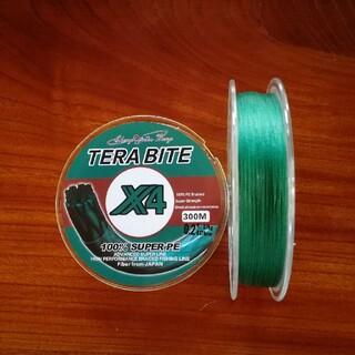 TERABITE PEライン(4本編み),300m巻,0.2#(釣り糸/ライン)
