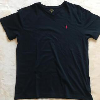 ラルフローレン(Ralph Lauren)の【美品】ラルフローレン黒VネックTシャツ(Tシャツ/カットソー(半袖/袖なし))