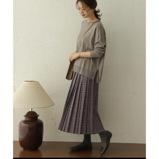 ドアーズ(DOORS / URBAN RESEARCH)のDOORS チェックプリーツスカート(ロングスカート)