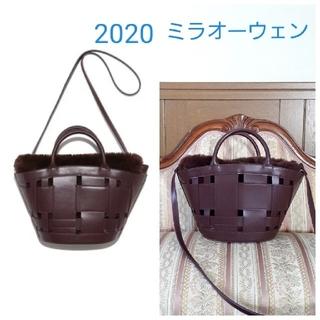 ミラオーウェン(Mila Owen)のミラオーウェン ワイドメッシュファー巾着扇形バッグ2020ファーバッグ(ショルダーバッグ)