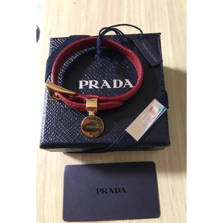 プラダ(PRADA)のPRADA プラダ サフィアーノレザーブレスレット(ブレスレット/バングル)