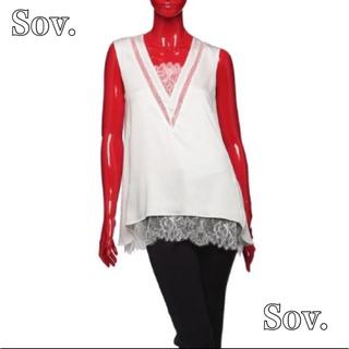 ダブルスタンダードクロージング(DOUBLE STANDARD CLOTHING)のSov. ☆裾レースノースリーブブラウス(シャツ/ブラウス(半袖/袖なし))