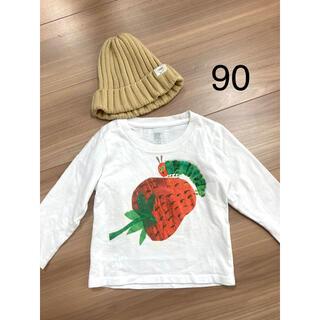 Design Tshirts Store graniph - グラニフ あおむし 長袖Tシャツ 90