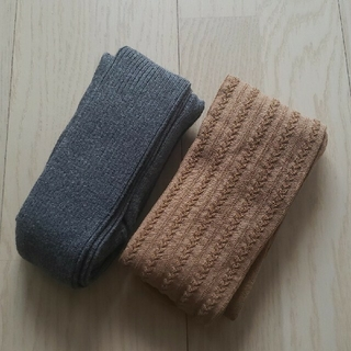ユニクロ(UNIQLO)のユニクロ♡ニットタイツ 130cm 2枚セット(靴下/タイツ)