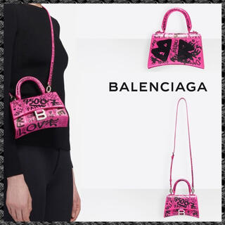 バレンシアガバッグ(BALENCIAGA BAG)の【BALENCIAGA】HOURGLASSグラフィティ柄トップハンドルバッグXS(ショルダーバッグ)