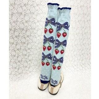 シャーリーテンプル(Shirley Temple)の新品 20cm いちご ストロベリー ソックス 靴下 シャーリーテンプル(靴下/タイツ)