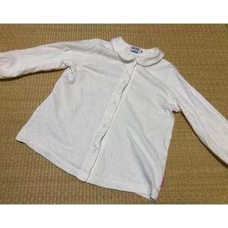 ミキハウス(mikihouse)のミキハウス ブラウス シャツ 女の子 90サイズ 白(ブラウス)