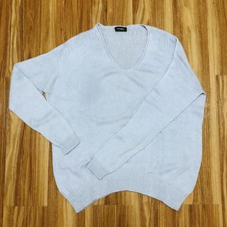 マックスアンドコー(Max & Co.)のMAX&Co アイスブルー カシミヤアルパカ セーター(ニット/セーター)