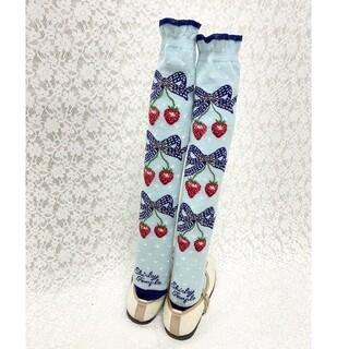 シャーリーテンプル(Shirley Temple)の新品 17cm いちご ストロベリー ソックス 靴下 シャーリーテンプル(靴下/タイツ)