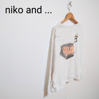 ニコアンド(niko and...)のniko and バックプリントカットソー(カットソー(長袖/七分))