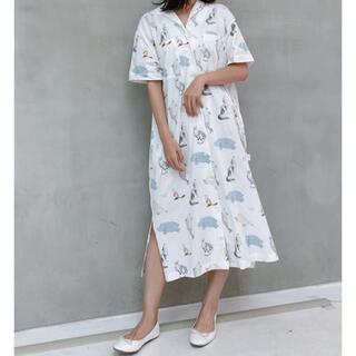 ジェラートピケ(gelato pique)のジェラートピケ×旭山動物園♡アニマルモチーフシャツドレス♡(ロングワンピース/マキシワンピース)