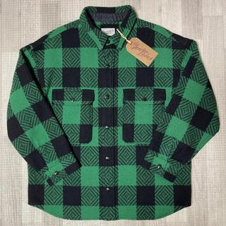 テンダーロイン(TENDERLOIN)の人気品! TENDERLOIN バッファローシャツジャケット グリーン 緑 XL(ブルゾン)