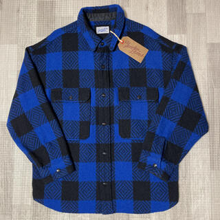 テンダーロイン(TENDERLOIN)の人気品! TENDERLOIN バッファロー シャツジャケット ブルー 青 XL(ブルゾン)