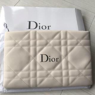 Dior - ディオール Dior ポーチ ホワイト クラッチ ノベルティ 非売品 ロゴ 新品