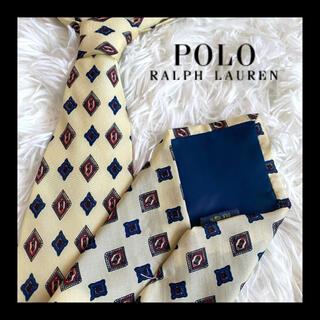 ポロラルフローレン(POLO RALPH LAUREN)のPolo Ground  ポロ 総柄 ネクタイ ビジネス カジュアル 白(ネクタイ)