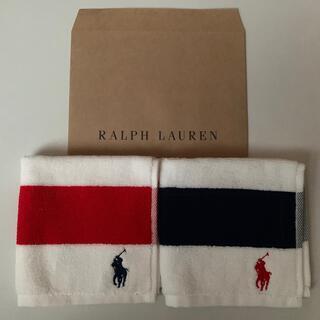 ポロラルフローレン(POLO RALPH LAUREN)のラルフローレンタオルハンカチ2枚セット(ハンカチ/ポケットチーフ)
