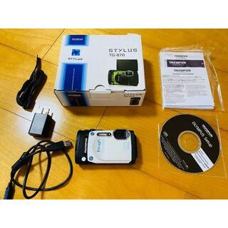 オリンパス(OLYMPUS)のOLYMPUS オリンパス  TG-870 WHITE(コンパクトデジタルカメラ)