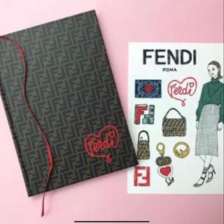 フェンディ(FENDI)の【FENDI】FFロゴ★ノートブック★ステッカー(ノート/メモ帳/ふせん)