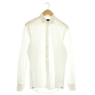 ランバン(LANVIN)のランバン LANVIN シャツ 長袖 コットン 38/15 白 ホワイト (シャツ)