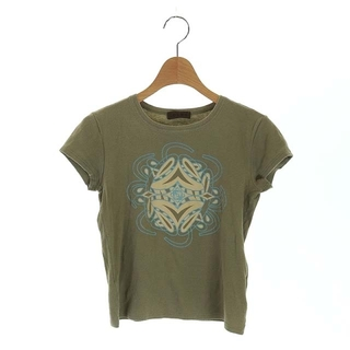 ロエベ(LOEWE)のロエベ LOEWE Tシャツ カットソー 半袖 プリント S カーキ(Tシャツ(半袖/袖なし))
