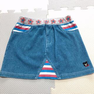 ダブルビー(DOUBLE.B)のDOUBLE B ミキハウス やわらか デニム スカート 90(スカート)