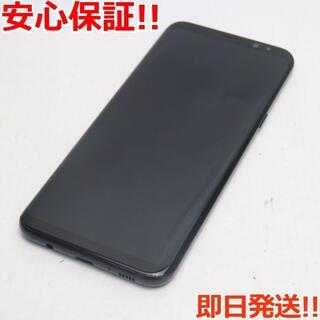 ギャラクシー(Galaxy)の新品同様 au SCV35 Galaxy S8+ ブラック 白ロム(スマートフォン本体)