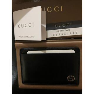 グッチ(Gucci)の セール価格💫GUCCIカード.名刺ケース.ブラック(名刺入れ/定期入れ)