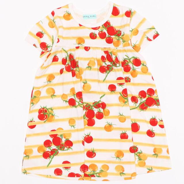 hakka kids(ハッカキッズ)の[ジュニアサイズ]プチトマトプリント半袖Tシャツ ハッカキッズ キッズ/ベビー/マタニティのキッズ服女の子用(90cm~)(ワンピース)の商品写真