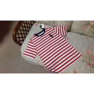 ラルフローレン(Ralph Lauren)の新品☆ラルフローレン ボーダーTシャツ 150 赤白(Tシャツ/カットソー)