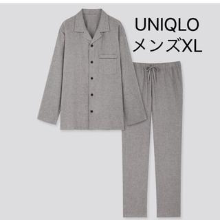 ユニクロ(UNIQLO)の新品 ユニクロ フランネルパジャマ グレー メンズXL 綿100%(その他)