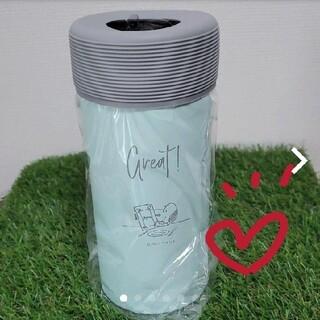 スヌーピー(SNOOPY)の新品♡ スヌーピー 真空保冷ペットボトルホルダー  ライトブルー(タンブラー)