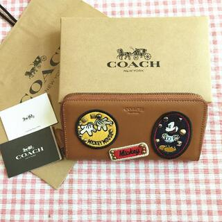コーチ(COACH)のCOACH/コーチ長財布 F59340 ディズニーコラボ ミッキーパッチ(財布)