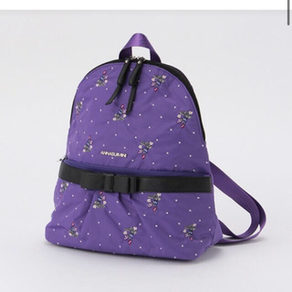 ANNA SUI mini - 新品未使用 アナスイミニ はっ水 撥水 チェリー総柄リュック バッグ
