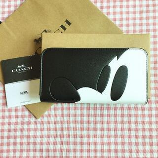 コーチ(COACH)のCOACH/コーチ長財布 F54000 ディズニーコラボ ミッキー横顔(財布)