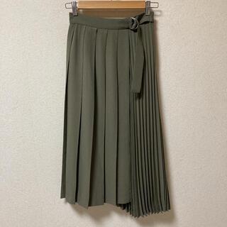 エージーバイアクアガール(AG by aquagirl)のAG バイ アクアガール イレギュラーヘムプリーツミモレ丈スカート(ロングスカート)