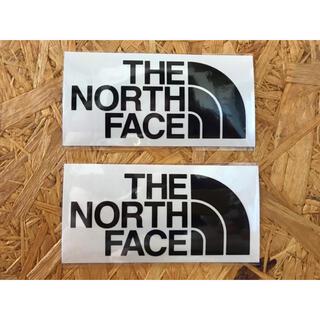 ザノースフェイス(THE NORTH FACE)の黒2白1 ノースフェイス カッティングステッカー 黒 2枚 正規品(その他)