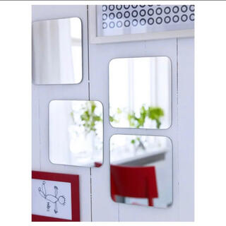 イケア(IKEA)の【未開封】IKEA イケア IKEA 鏡 壁貼り ソールリ ミラー 4枚セット(壁掛けミラー)